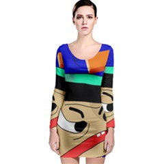 Accident  Long Sleeve Bodycon Dress