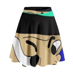 Accident  High Waist Skirt