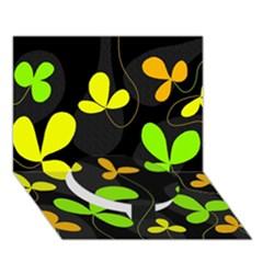 Floral design Circle Bottom 3D Greeting Card (7x5)