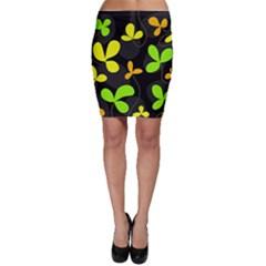 Floral design Bodycon Skirt