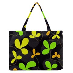 Floral Design Medium Zipper Tote Bag