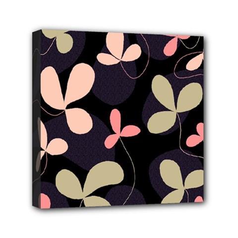Elegant floral design Mini Canvas 6  x 6