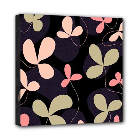 Elegant floral design Mini Canvas 8  x 8