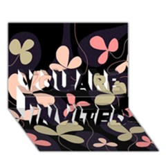 Elegant floral design YOU ARE INVITED 3D Greeting Card (7x5)