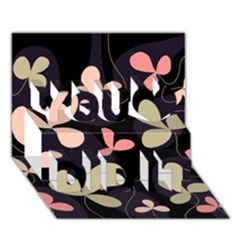 Elegant floral design You Did It 3D Greeting Card (7x5)