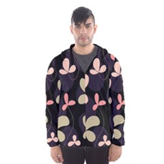 Elegant floral design Hooded Wind Breaker (Men)
