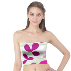 Magenta floral pattern Tube Top