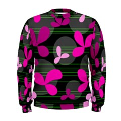 Magenta floral design Men s Sweatshirt