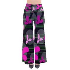 Magenta floral design Pants