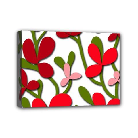 Floral Tree Mini Canvas 7  X 5