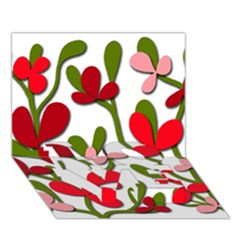 Floral tree LOVE Bottom 3D Greeting Card (7x5)