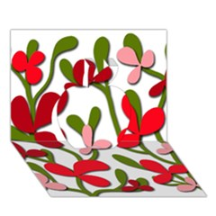 Floral tree Apple 3D Greeting Card (7x5)
