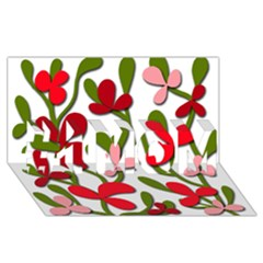Floral tree #1 MOM 3D Greeting Cards (8x4)