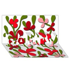 Floral tree PARTY 3D Greeting Card (8x4)