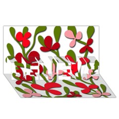 Floral tree BELIEVE 3D Greeting Card (8x4)