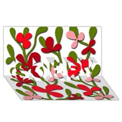 Floral tree SORRY 3D Greeting Card (8x4)