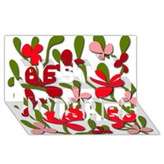 Floral tree Best Wish 3D Greeting Card (8x4)