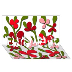 Floral tree ENGAGED 3D Greeting Card (8x4)