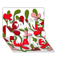 Floral tree TAKE CARE 3D Greeting Card (7x5)