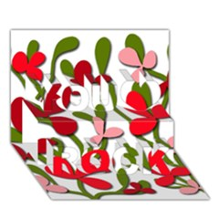 Floral tree You Rock 3D Greeting Card (7x5)