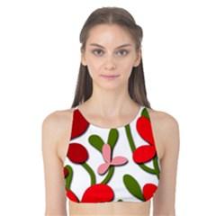Floral tree Tank Bikini Top