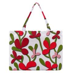 Floral Tree Medium Zipper Tote Bag
