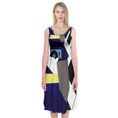 Hard Midi Sleeveless Dress