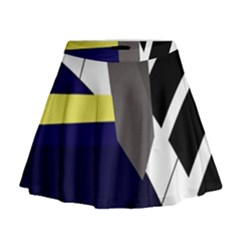 Hard Mini Flare Skirt