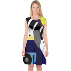 Hard Capsleeve Midi Dress