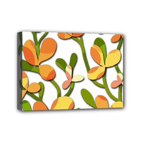Decorative floral tree Mini Canvas 7  x 5
