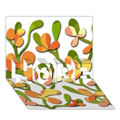 Decorative floral tree HOPE 3D Greeting Card (7x5)