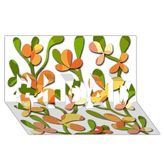 Decorative floral tree #1 DAD 3D Greeting Card (8x4)