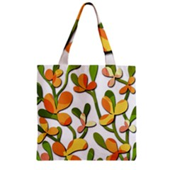 Decorative floral tree Zipper Grocery Tote Bag