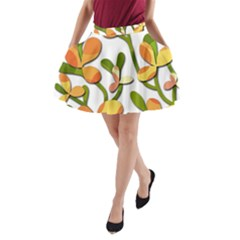 Decorative floral tree A-Line Pocket Skirt