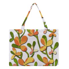 Decorative floral tree Medium Tote Bag