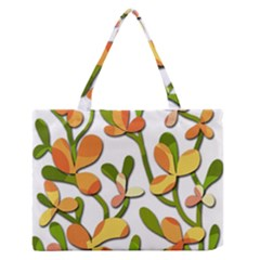 Decorative floral tree Medium Zipper Tote Bag