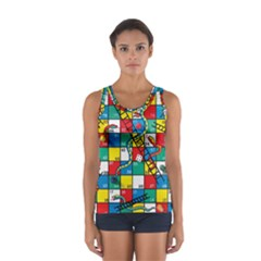 Snakes And Ladders Women s Sport Tank Top