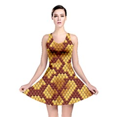 Snake Skin Pattern Vector Reversible Skater Dress