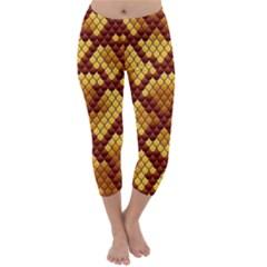 Snake Skin Pattern Vector Capri Winter Leggings