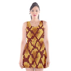 Snake Skin Pattern Vector Scoop Neck Skater Dress