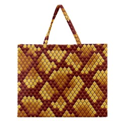 Snake Skin Pattern Vector Zipper Large Tote Bag