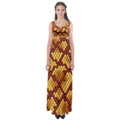 Snake Skin Pattern Vector Empire Waist Maxi Dress