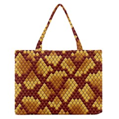 Snake Skin Pattern Vector Medium Zipper Tote Bag