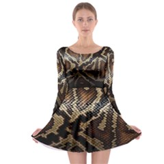 Snake Skin Olay Long Sleeve Skater Dress