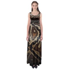 Snake Skin Olay Empire Waist Maxi Dress