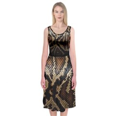 Snake Skin Olay Midi Sleeveless Dress