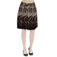 Snake Skin Olay Pleated Skirt