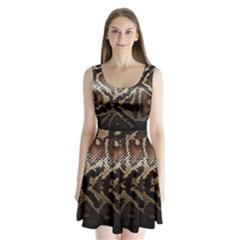 Snake Skin Olay Split Back Mini Dress