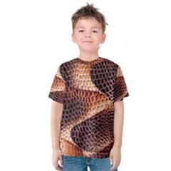 Snake Python Skin Pattern Kids  Cotton Tee