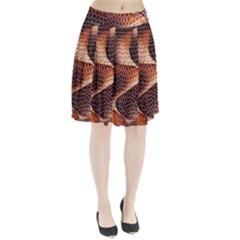 Snake Python Skin Pattern Pleated Skirt